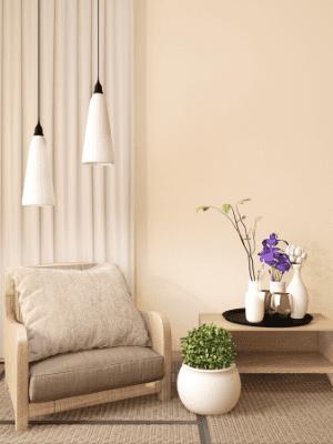 Decoração minimalista no feng shui