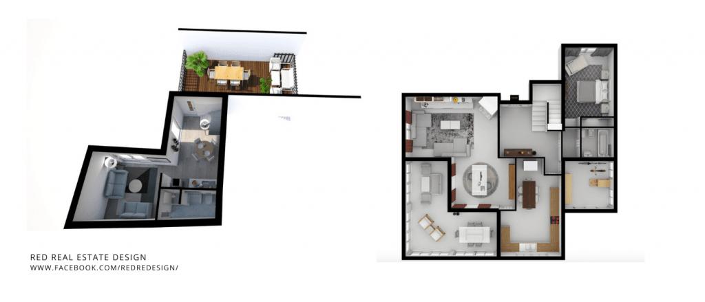 Imobiliário Digital planta 3d