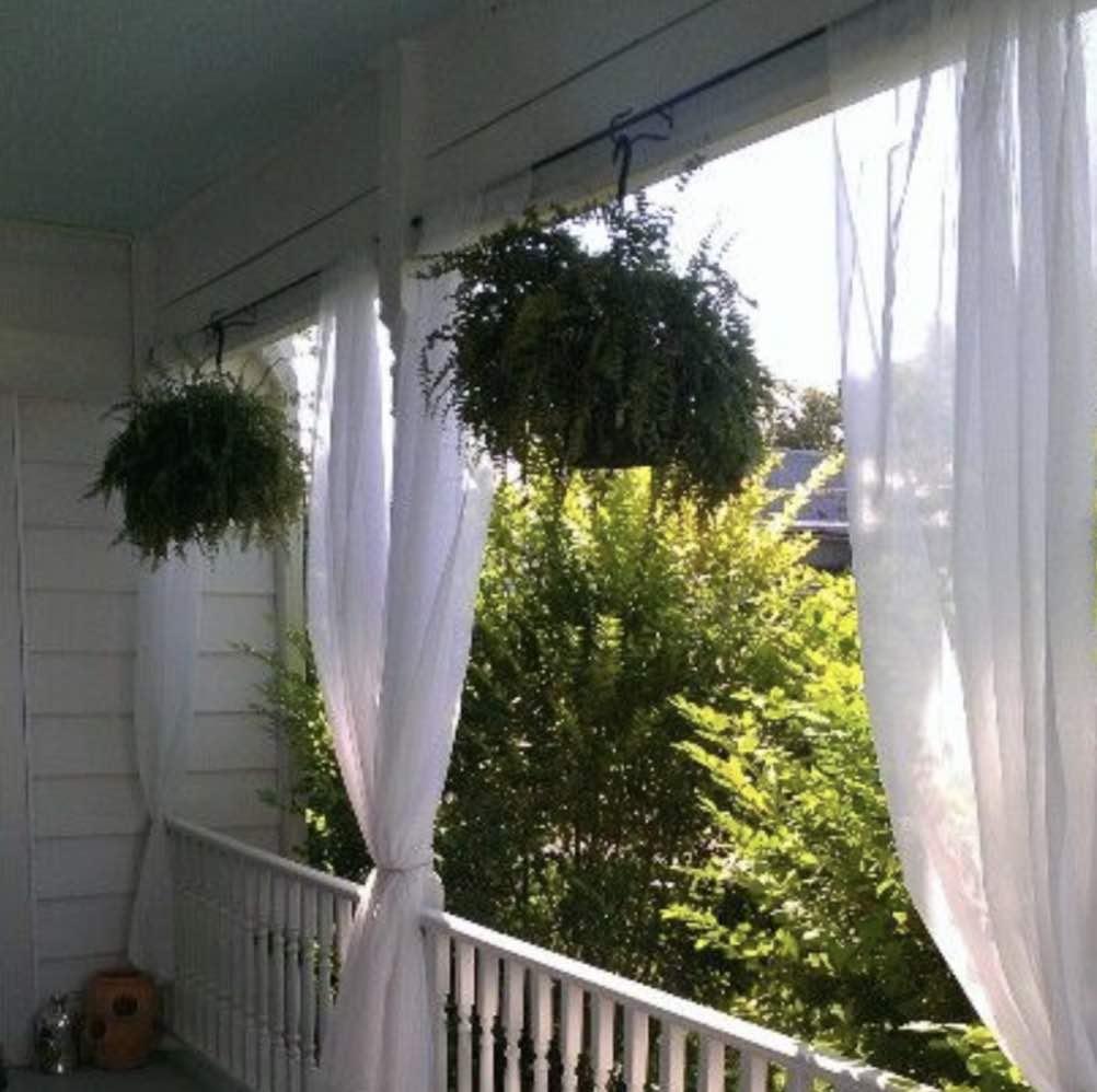 Cortinas na varanda